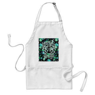 Hold Tight, Stay Strong Floral Nautical art. Standard Apron