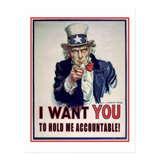Hold Uncle Sam Accountable Postcards