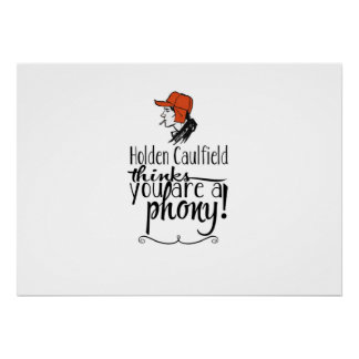 Holden Caulfield The Catcher in The Rye Poster