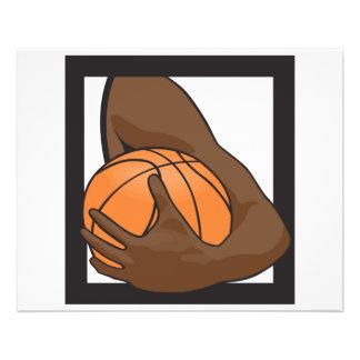 holding a basketball 11.5 cm x 14 cm flyer