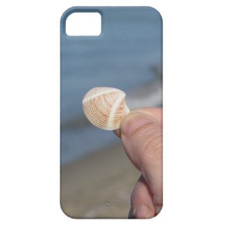Holding a seashell in the hand barely there iPhone 5 case