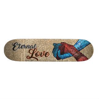 Holding Hands,Eternal Love,Space Dictionary Art 21.3 Cm Mini Skateboard Deck
