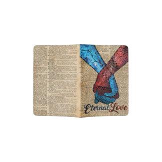 Holding Hands,Eternal Love,Space Dictionary Art Passport Holder