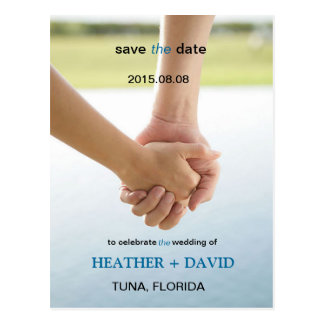 Holding Hands l Save The Date Photo Postcard