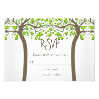 Holding Hands Trees Love Rustic Eco Wedding RSVP Invitation