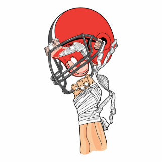 holding helmet high football design photo cut outs