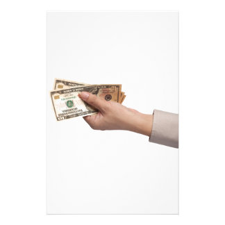 Holding money stationery