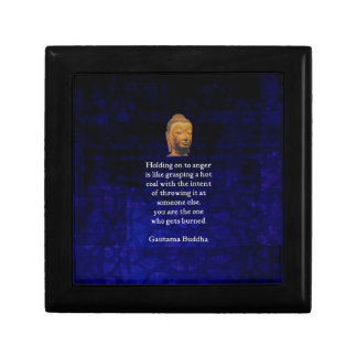 Holding On To Anger Inspirational Buddha Quote Small Square Gift Box