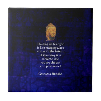 Holding On To Anger Inspirational Buddha Quote Small Square Tile