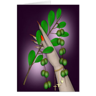 HOLDING OUT AN OLIVE BRANCH CARD