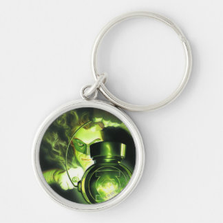 Holding the Green Lantern Silver-Colored Round Key Ring