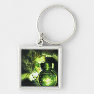 Holding the Green Lantern Silver-Colored Square Key Ring