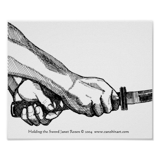 Holding the Sword Print