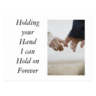 Holding Your Hand Postcard