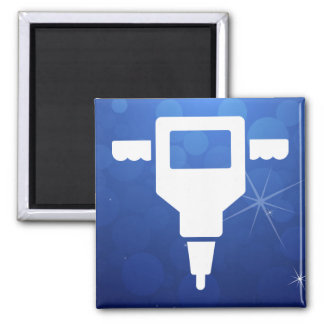 Hole Diggers Icon Square Magnet
