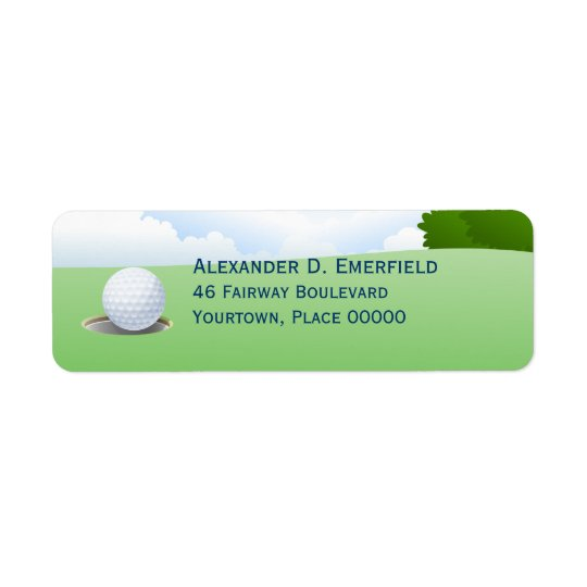 Hole in One Golfing Return Address Label