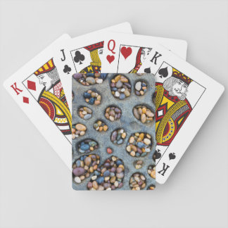 Holes filled with pebbles, CA Playing Cards