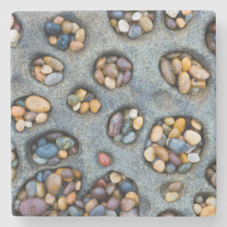 Holes filled with pebbles, CA Stone Coaster
