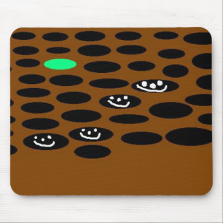 Holes & Green Mouse Pad
