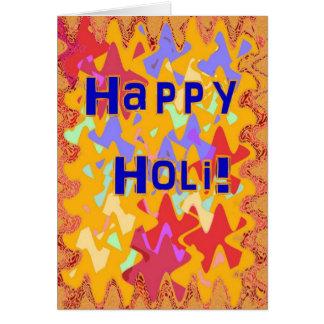 Holi festival of colours card