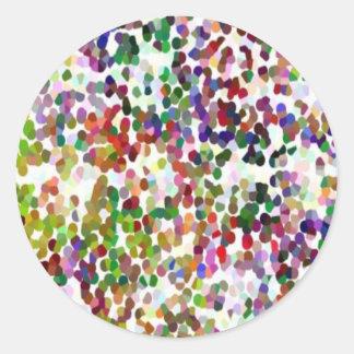 HOLI - Festival of Colours - Elegant MultiColor Classic Round Sticker