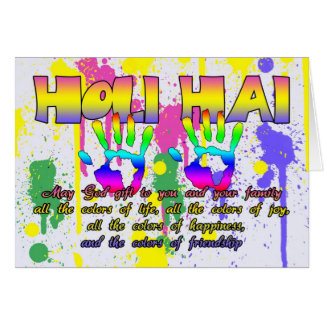 Holi Hai Festival Of Colors Greeting Card - Happy