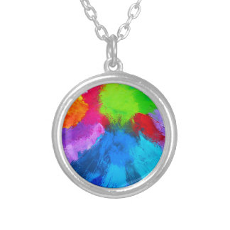 Holi Round Pendant Necklace