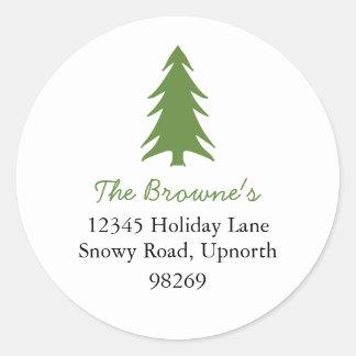 holiday address stickers