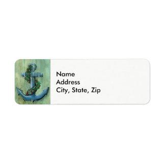 Holiday Anchor Return Address Label