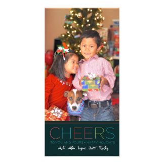 Holiday and Christmas CHEERS card Customised Photo Card