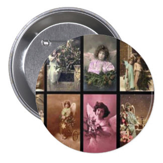 Holiday Angels Button Pin