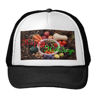 Holiday Assortment Happy Holidays Xmas Design Cap