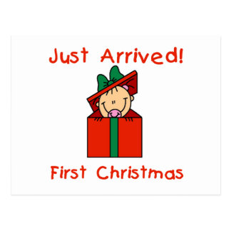 Holiday Baby Girl Just Arrived Tshirts and Gifts Post Card