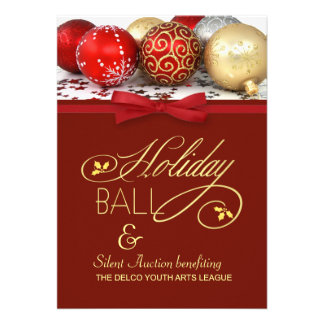 Holiday Ball & Charity Event Invitation