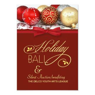 "Holiday Ball & Charity Event Invitation 5"" X 7"" Invitation Card"
