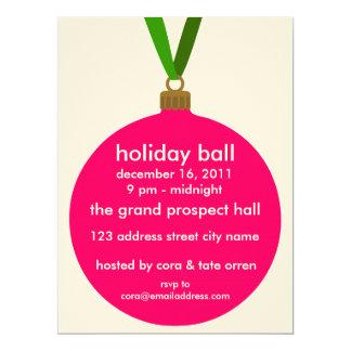 Holiday Ball Ornament Party Invitation