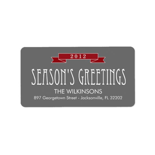 Holiday Banner Holiday Address Labels