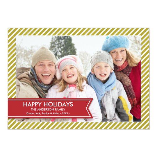 HOLIDAY BANNER | HOLIDAY PHOTO CARD 13 CM X 18 CM INVITATION CARD