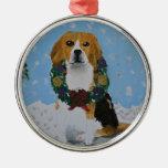 Holiday Beagles Ornaments