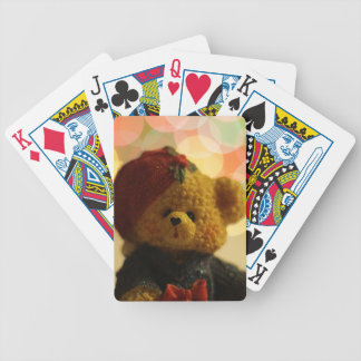 Holiday Bear #1 Bicycle Playing Cards