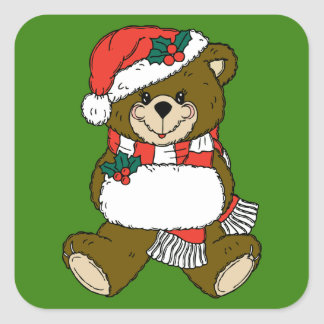 Holiday Bear Stickers