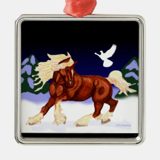 Holiday Belgian Draft Horse Ornament