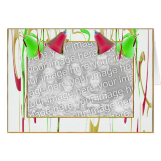 Holiday Bell Joy (photo frame) (wide) Greeting Card