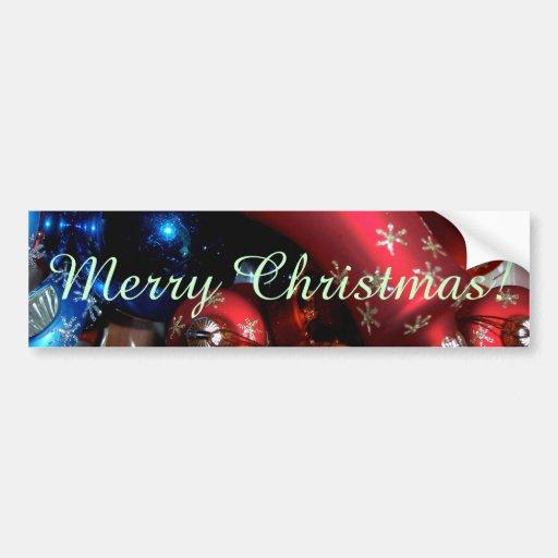 Holiday Bells & Bulbs Bumper Sticker