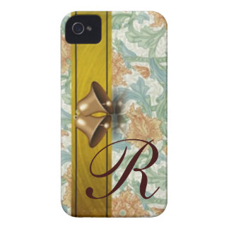 Holiday Bells monogrammed iPhone 4 Case