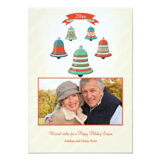 Holiday Bells Photo card 13 Cm X 18 Cm Invitation Card
