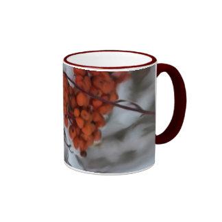 Holiday Berries Ringer Mug