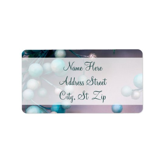 Holiday Berry Wreath Christmas Address Labels