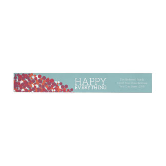 Holiday Berry Wreath with Happy Everything Wrap Around Label