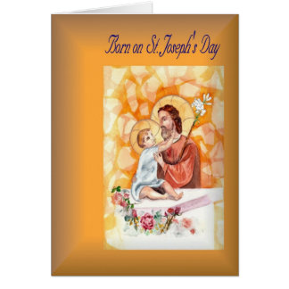 Holiday Birthday born on St. Joseph's Day Card